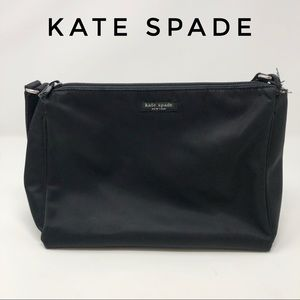 "Kate Spade Small Black Canvas Shoulder Bag 10""x7"""